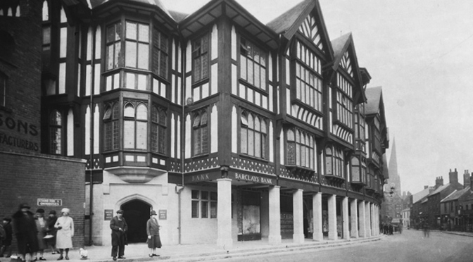 Black and White buildings of Chesterfield