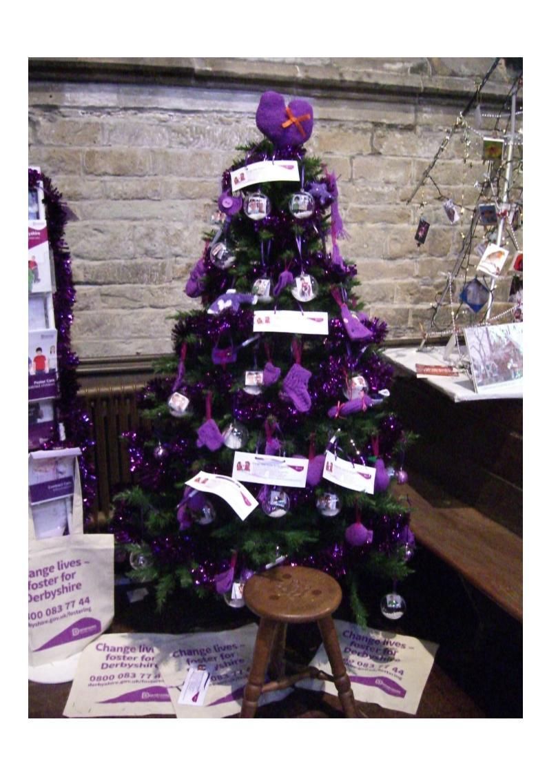 Christmas tree Chesterfield church