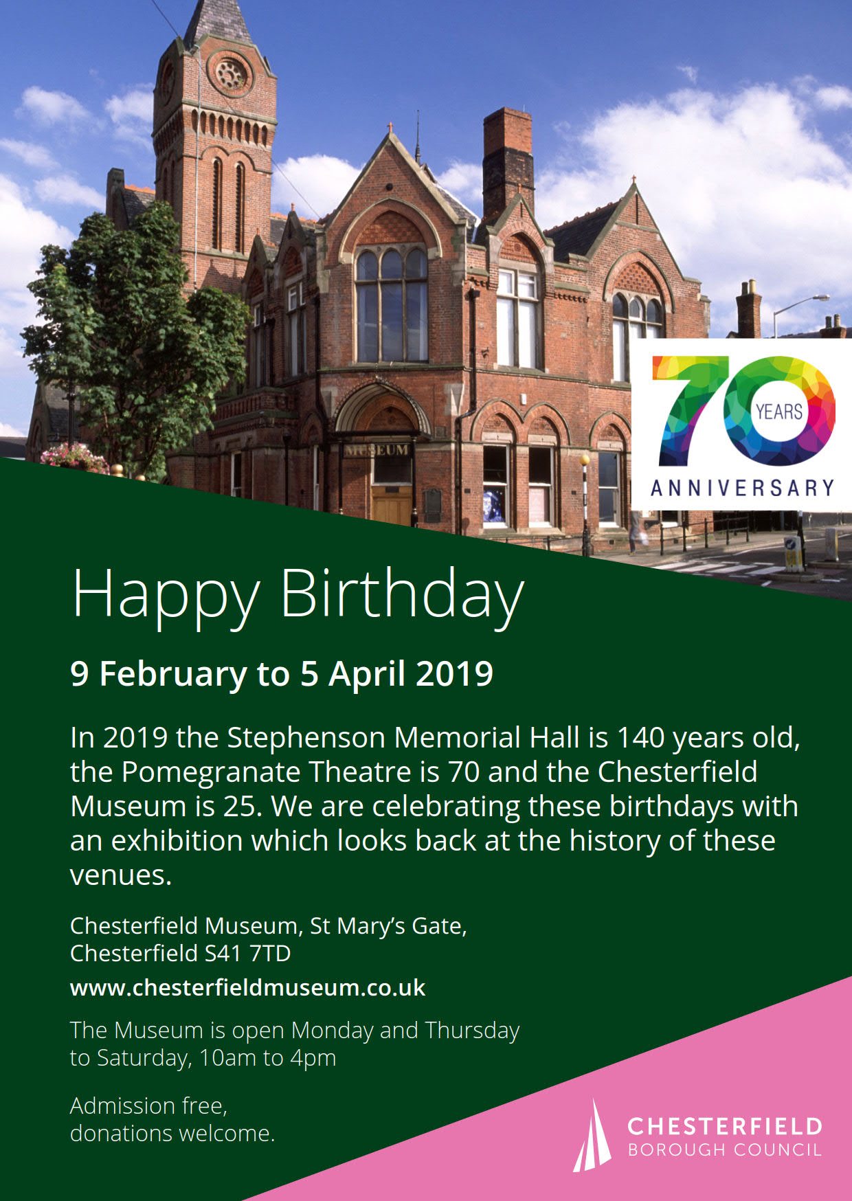 Stephenson Memorial Hall Happy Birthday